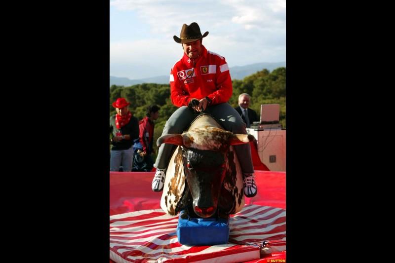 Rubens Barrichello, Spanish GP Preparations, May 6th, 2004.