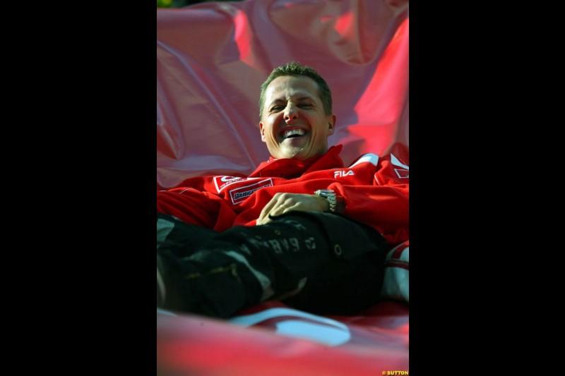 Michael Schumacher, Spanish GP Preparations, May 6th, 2004.