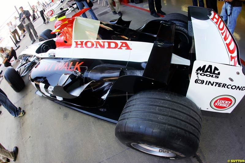 BAR-Honda, Spanish GP Preparations, May 6th, 2004.
