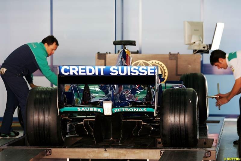 Sauber-Petronas, Spanish GP Preparations, May 6th, 2004.