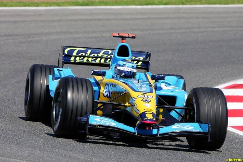 Jarno Trulli, Renault, Spanish GP, Friday May 7th, 2004.