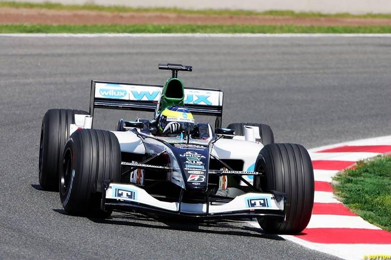 Zsolt Baumgartner, Minardi-Cosworth, Spanish GP, Friday May 7th, 2004.
