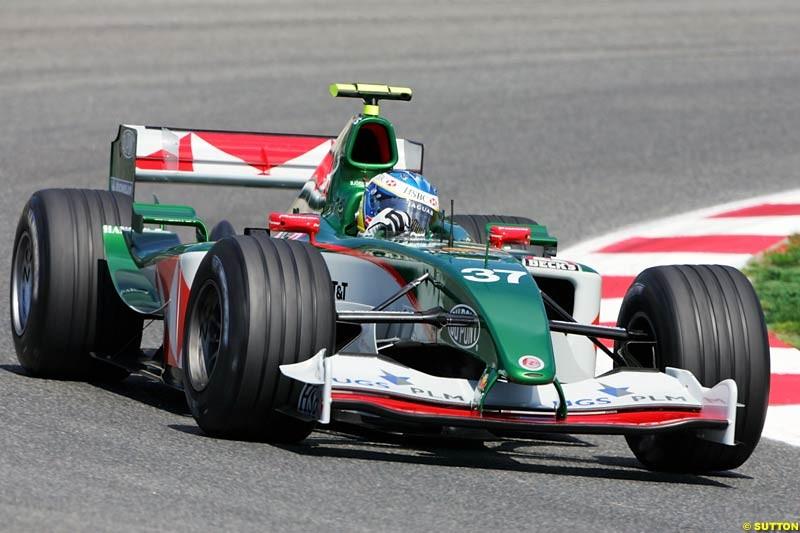 Bjorn Wirdheim, Jaguar, Spanish GP, Friday May 7th, 2004.