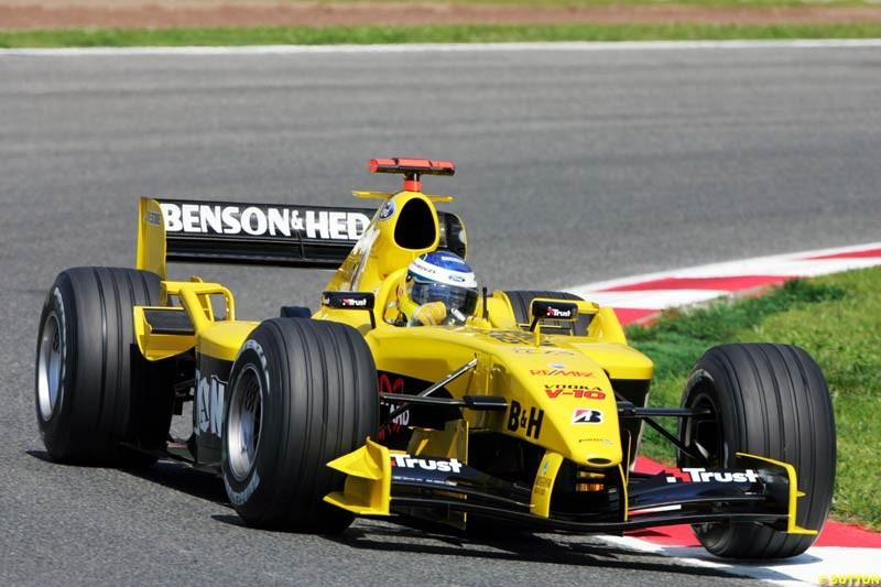 Nick Heidfeld, Jordan-Ford, Spanish GP, Friday May 7th, 2004.