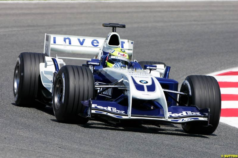 Ralf Schumacher, BMW-Williams, Spanish GP, Friday May 7th, 2004.