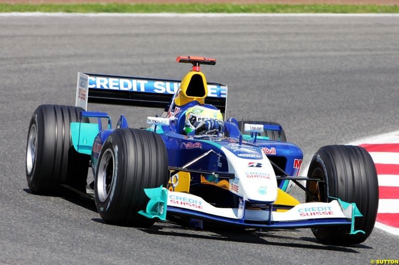 Giancarlo Fisichella, Sauber-Petronas, Spanish GP, Friday May 7th, 2004.