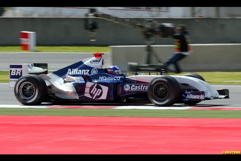 Juan Pablo Montoya, BMW-Williams, Spanish GP, Friday May 7th, 2004.