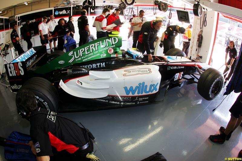 Minardi, Spanish GP, Friday May 7th, 2004.