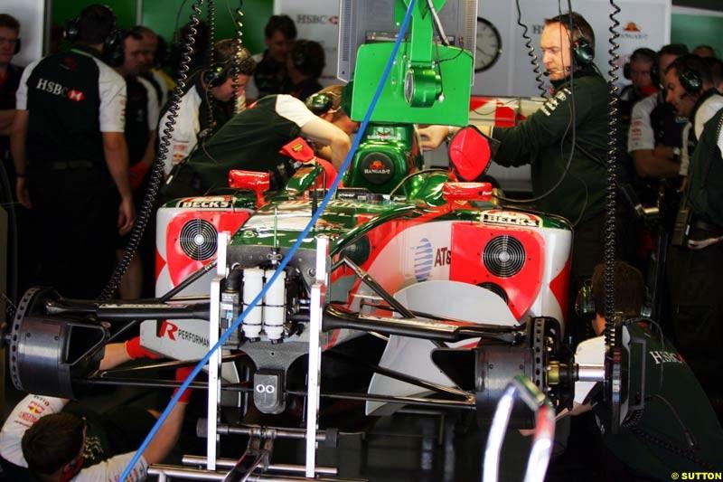 Jaguar, Spanish GP, Friday May 7th, 2004.