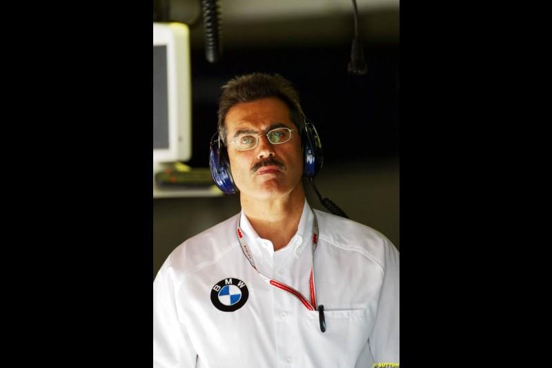 Dr. Mario Thiessen, BMW-Williams, Spanish GP, Friday May 7th, 2004.