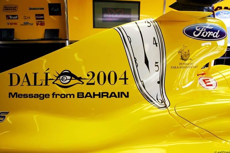 Jordan-Ford, Spanish GP, Friday May 7th, 2004.