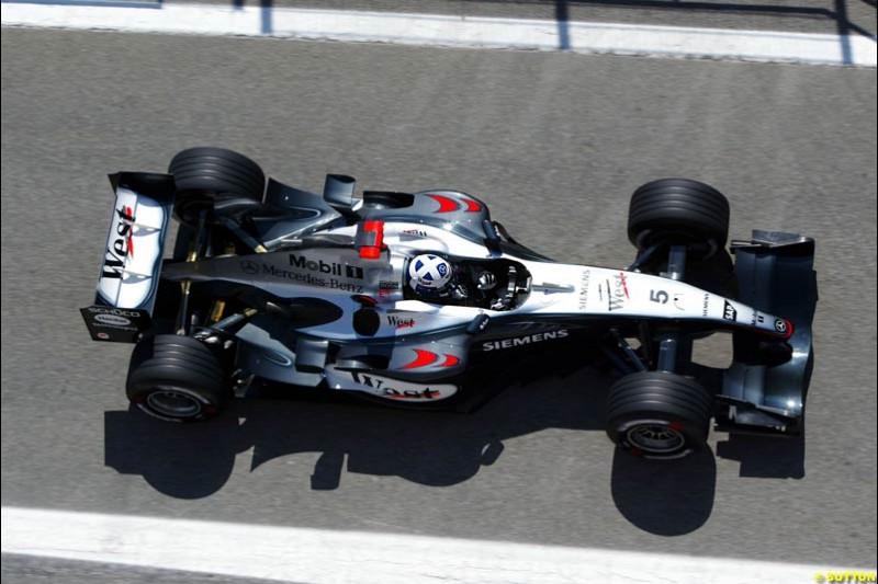 David Coulthard, Mclaren-Mercedes, Spanish GP Friday Practice, May 7th, 2004.