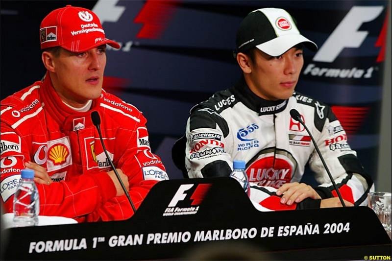 The Post Qualifying Press Conference. Spanish Grand Prix Saturday. Circuit de Catalunya. Barcelona, Spain. May 8th 2004.