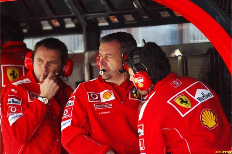 Ferrari. Spanish Grand Prix Saturday. Circuit de Catalunya. Barcelona, Spain. May 8th 2004.