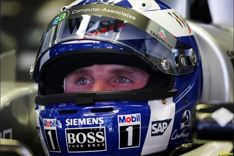 David Coulthard, McLaren. Spanish Grand Prix Saturday. Circuit de Catalunya. Barcelona, Spain. May 8th 2004.