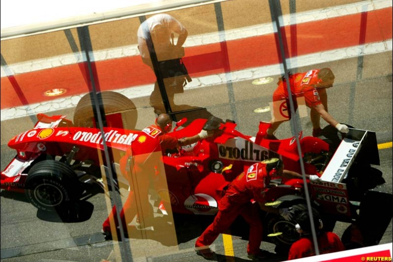 Rubens Barrichello, Ferrari, Spanish GP, Saturday May 8th, 2004.