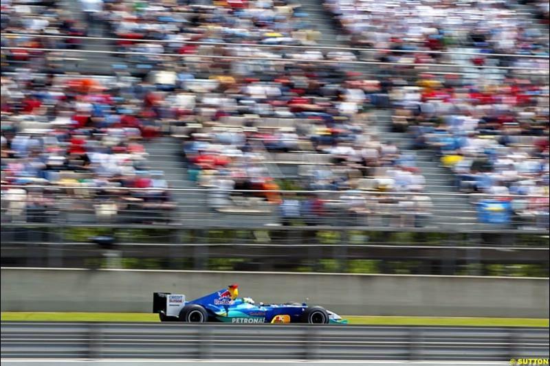 Giancarlo Fisichella, Sauber-Petronas, Spanish GP, Saturday May 8th, 2004.