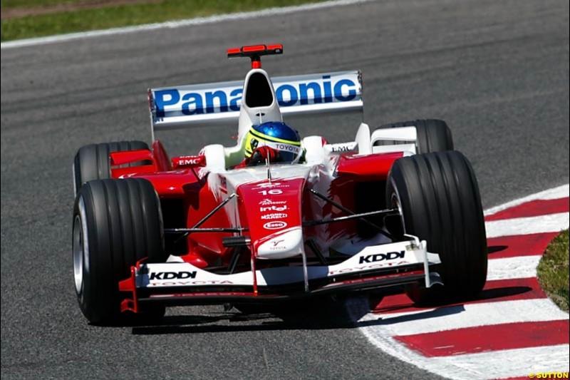 Cristiano Da Matta, Toyota, Spanish GP, Saturday May 8th, 2004.