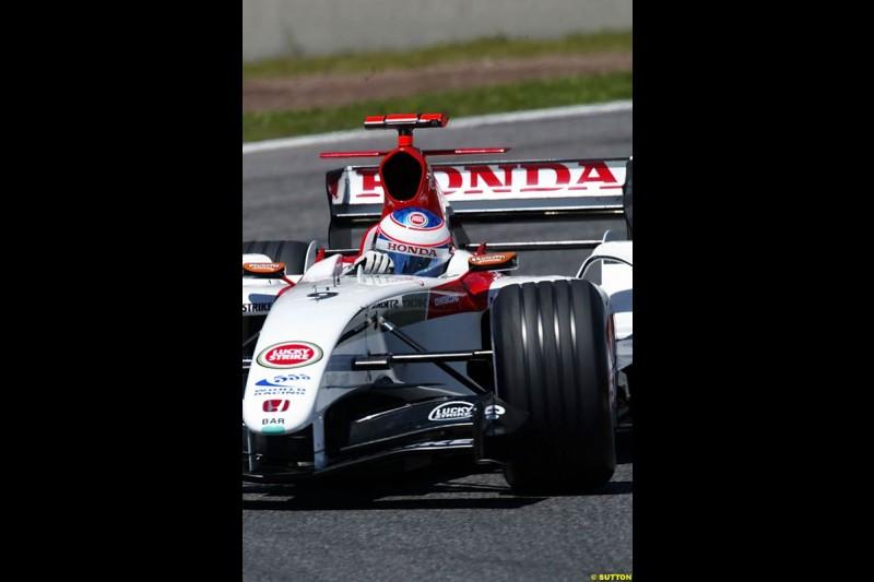 Jenson Button, BAR-Honda, Spanish GP, Saturday May 8th, 2004.