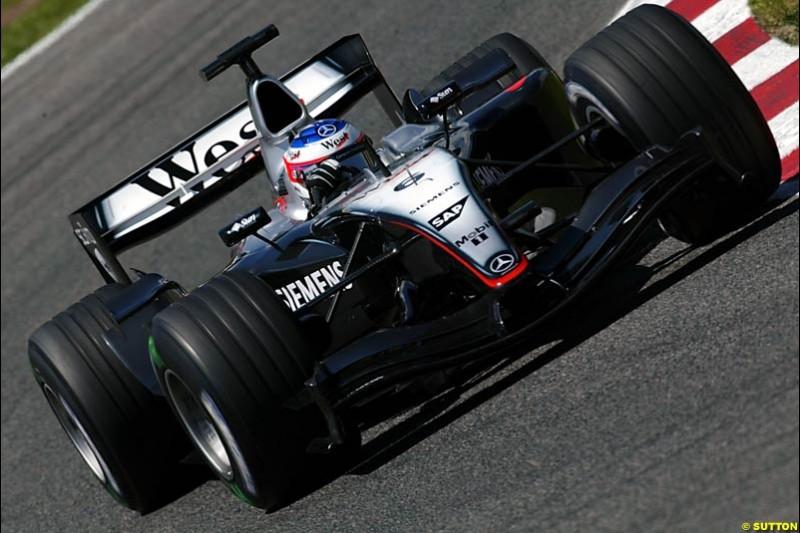 Kimi Raikkonen, Mclaren-Mercedes, Spanish GP, Saturday May 8th, 2004.