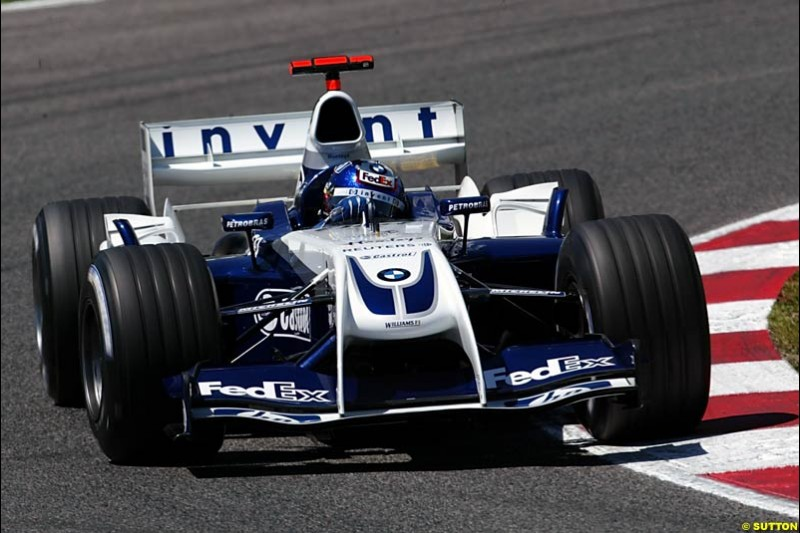 Juan Pablo Montoya, BMW-Williams, Spanish GP, Saturday May 8th, 2004.