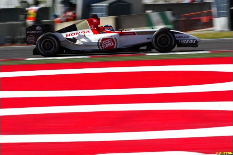 Takuma Sato, BAR-Honda, Spanish GP, Saturday May 8th, 2004.
