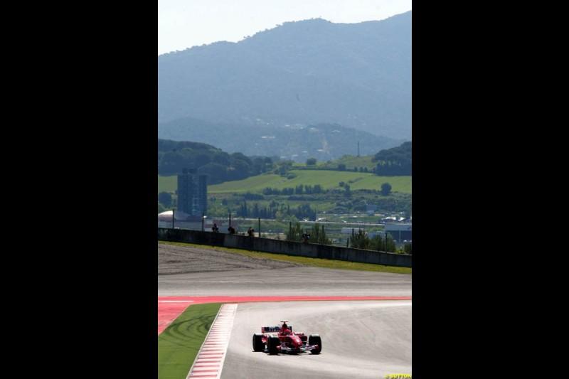 Michael Schumacher, Ferrari, Spanish GP, Saturday May 8th, 2004.