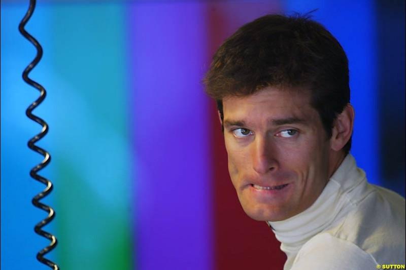 Mark Webber, Jaguar, Spanish GP, Saturday May 8th, 2004.