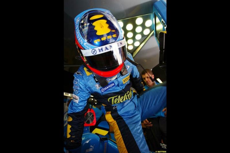 Fernando Alonso, Renault, Spanish GP, Saturday May 8th, 2004.