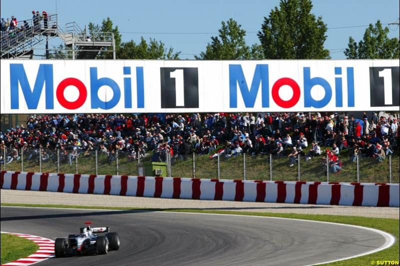 David Coulthard, Mclaren-Mercedes, Spanish GP, Saturday May 8th, 2004.