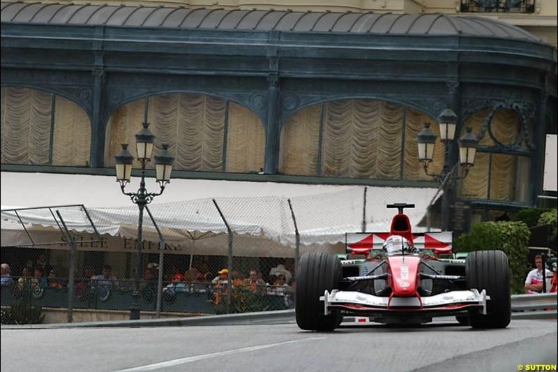 Christian Klien, Jaguar, Monaco GP, Thursday May 20st, 2004.