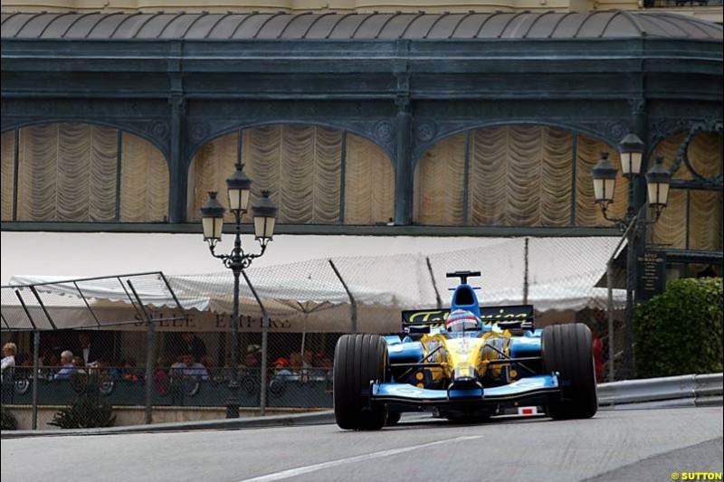 Fernando Alonso, Renault, Monaco GP, Thursday May 20st, 2004.