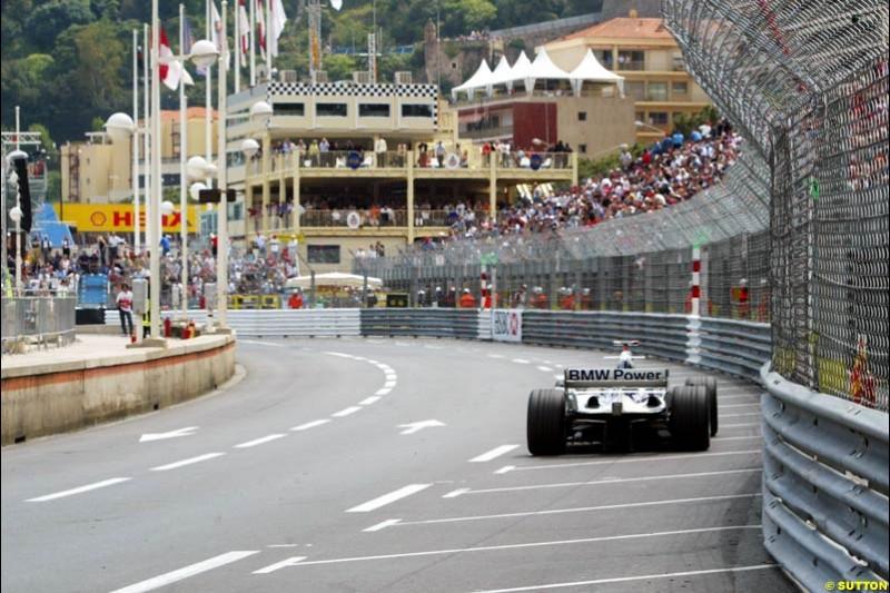 Juan Pablo Montoya, BMW-Williams, Monaco GP, Thursday May 20th, 2004.