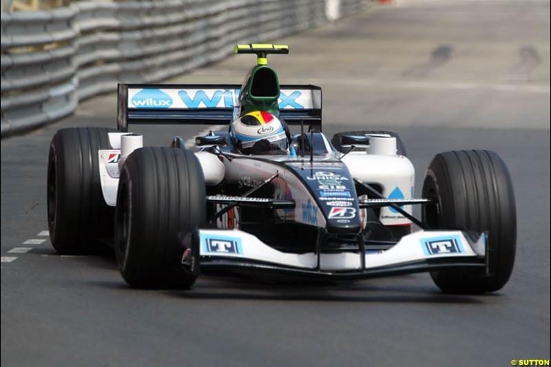 Bas Leinders, Minardi-Cosworth, Monaco GP, Thursday May 20th, 2004.