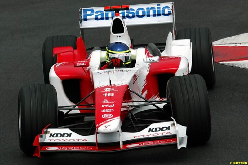 Cristiano da Matta, Toyota, Monaco GP, Thursday May 20th, 2004.