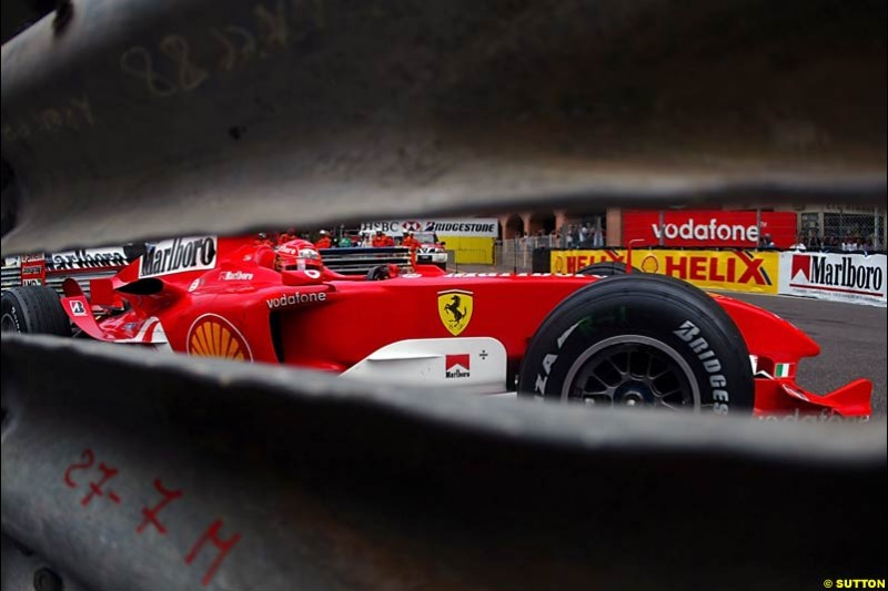 Michael Schumacher, Ferrari, Monaco GP, Thursday May 20th, 2004.