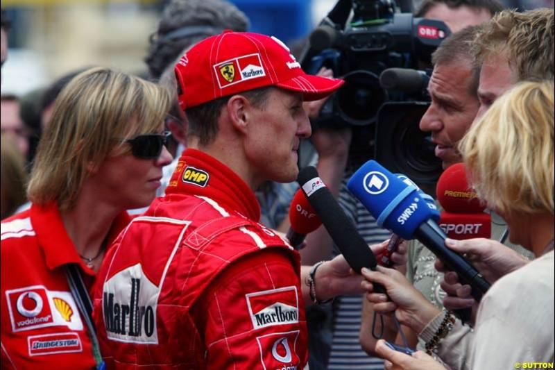 Michael Schumacher, Monaco GP, Thursday May 20th, 2004.