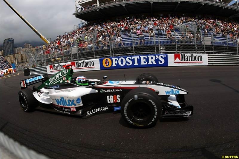 Gianmaria Bruni, Minardi-Cosworth, Monaco GP, Thursday May 20th, 2004.