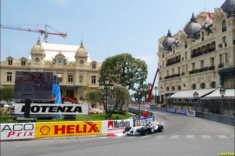 Ralf Schumacher, BMW-Williams, Monaco GP, Thursday May 20th, 2004.