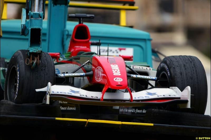 Jaguar, Monaco GP, Thursday May 20th, 2004.