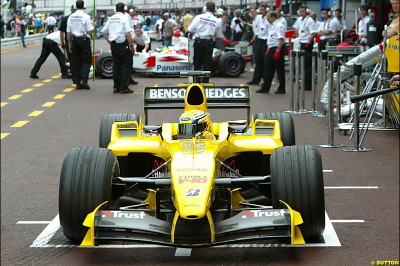 Giorgio Pantano, Jordan-Ford, Monaco GP, Thursday May 20th, 2004.