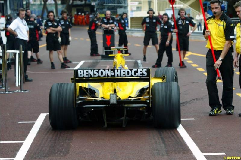Jordan-Ford, Monaco GP, Thursday May 20th, 2004.
