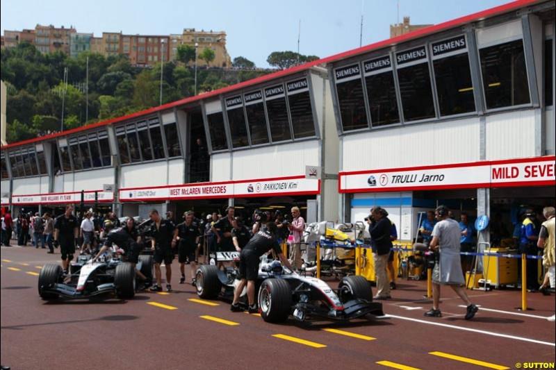 Mclaren-Mercedes, Monaco GP, Thursday May 20th, 2004.