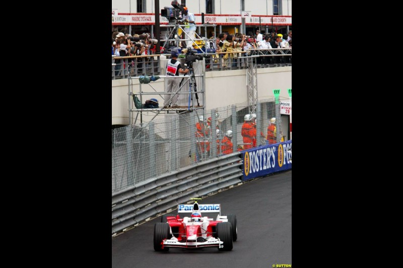 Ricardo Zonta, Toyota, Monaco GP, Thursday May 20th, 2004.