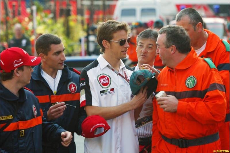 Jenson Button, Monaco GP, Thursday May 20th, 2004.