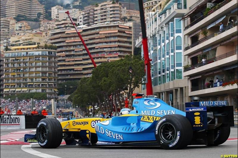 Jarno Trulli, Renault, Monaco GP, Thursday May 20th, 2004.