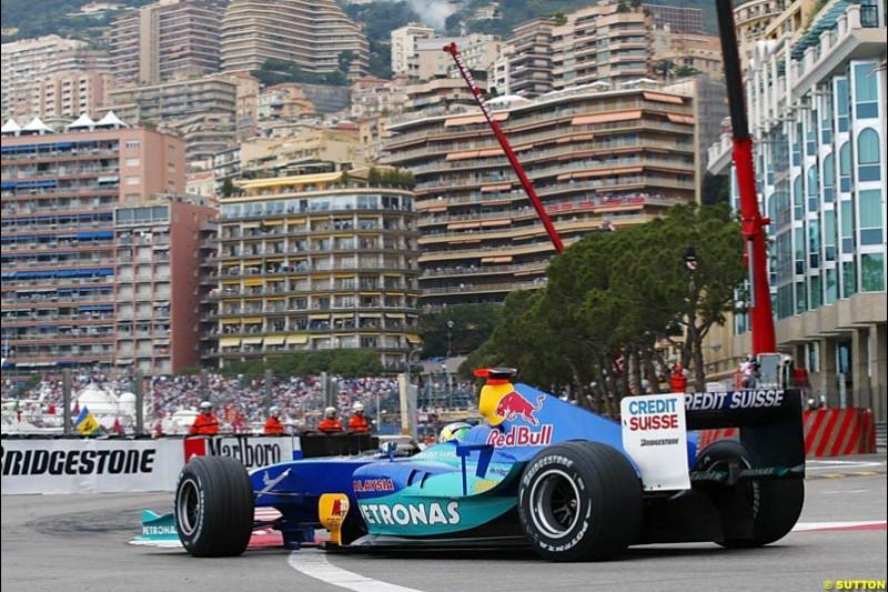 Giancarlo Fisichella, Sauber-Petronas, Monaco GP, Thursday May 20th, 2004.