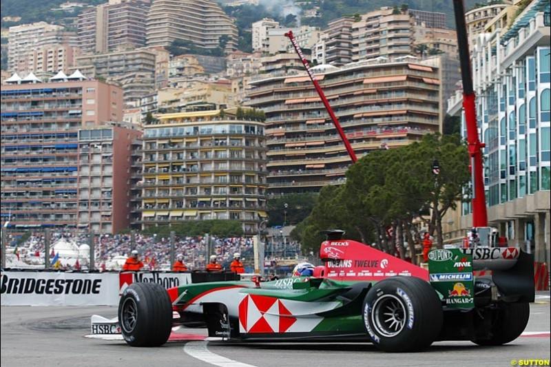Christian Klien, Jaguar, Monaco GP, Thursday May 20th, 2004.
