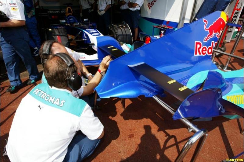 Sauber-Petronas, Monaco GP, Thursday May 20th, 2004.