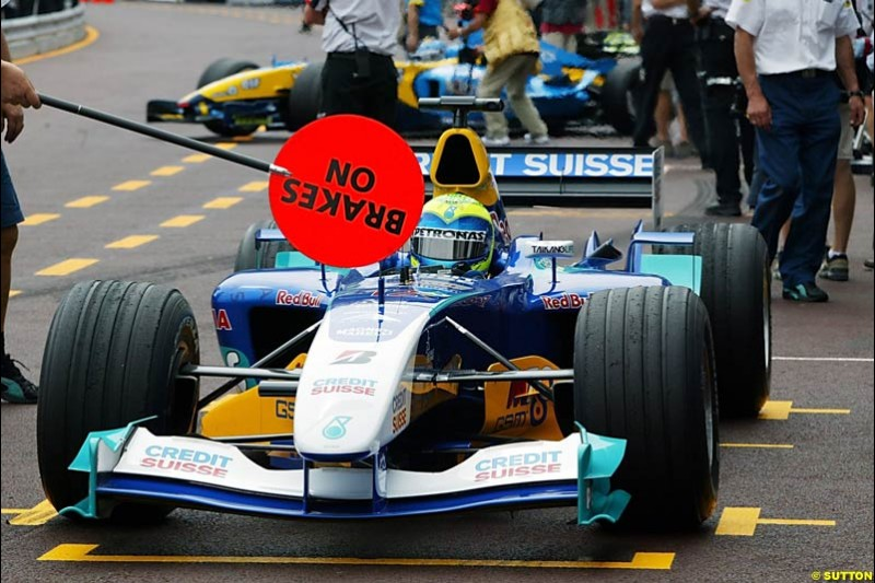 Felipe Massa, Sauber-Petronas, Monaco GP, Thursday May 20th, 2004.